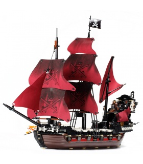 Custom Queen Anne's Revenge Pirates of the Caribbean Building Bricks Set