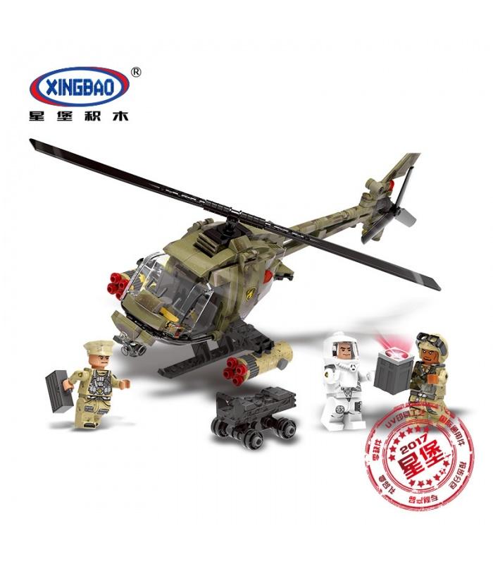XINGBAO 06013 Luz Hawk Helicóptero Edificio de Ladrillos Conjunto