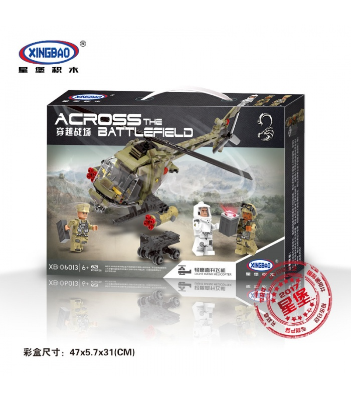 XINGBAO 06013 Light Hawk Helicopter Building Bricks Set