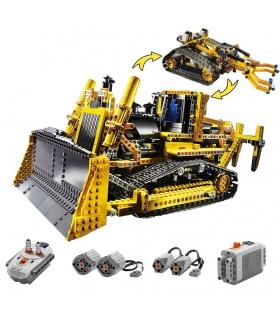 Personnalisé Technic Motorisé Bulldozer Compatible Briques De Construction, Jeu De 1384 Pièces