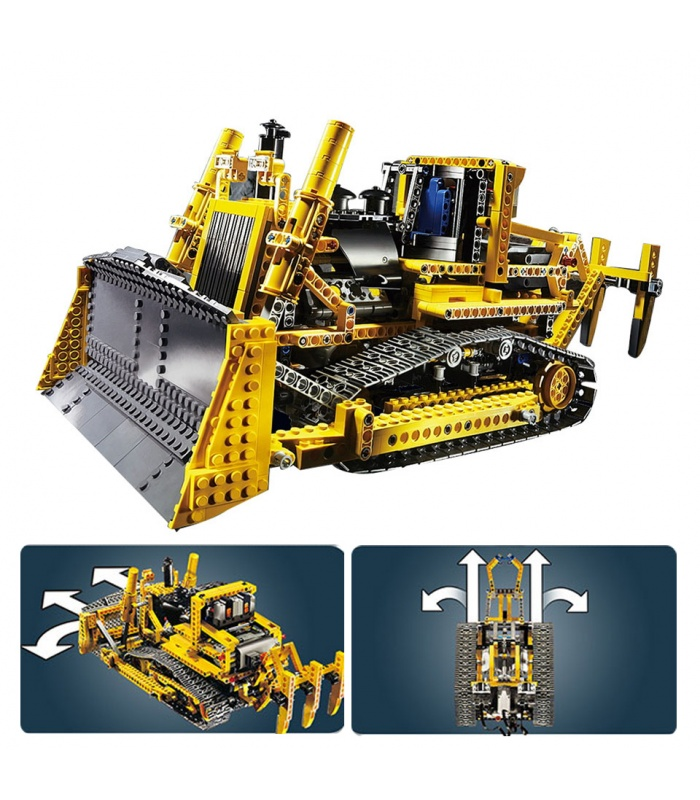 Custom Technic Motorized Bulldozer Compatible Building Bricks Set 1384 Pieces