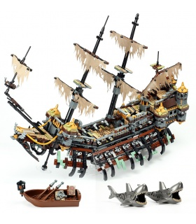 Custom Pirates of the Caribbean Silent Mary Compatible Building Bricks Toy Set 2344 Pieces