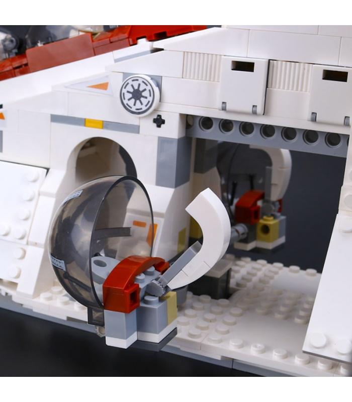 Custom Star Wars Republic Gunship Compatible Building Bricks Set 1175 Pieces