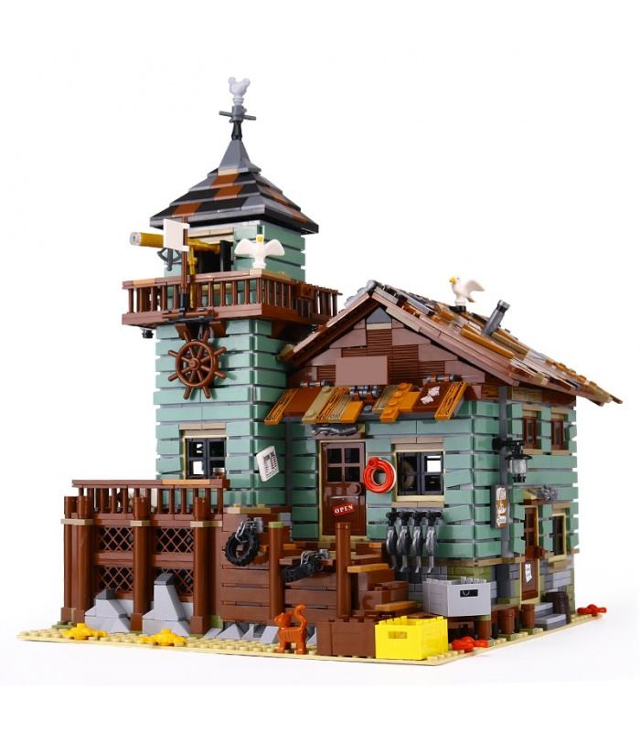 Custom Ideas Old Fishing Store Compatible Building Bricks Toy Set