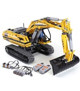 カスタムテクニックの電動油圧ショベル建物の煉瓦玩具セット1123個