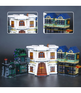 Custom Diagon Alley Building Bricks Toy Set 2025 Pieces