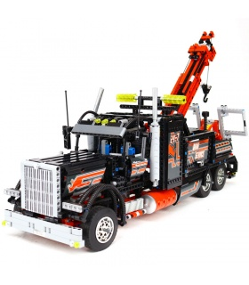 Custom Technic Tow Truck Building Bricks Set 1877 Pieces