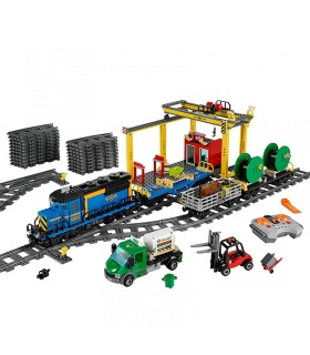 Custom Cargo Train Compatible Building Bricks Set 959 Pieces