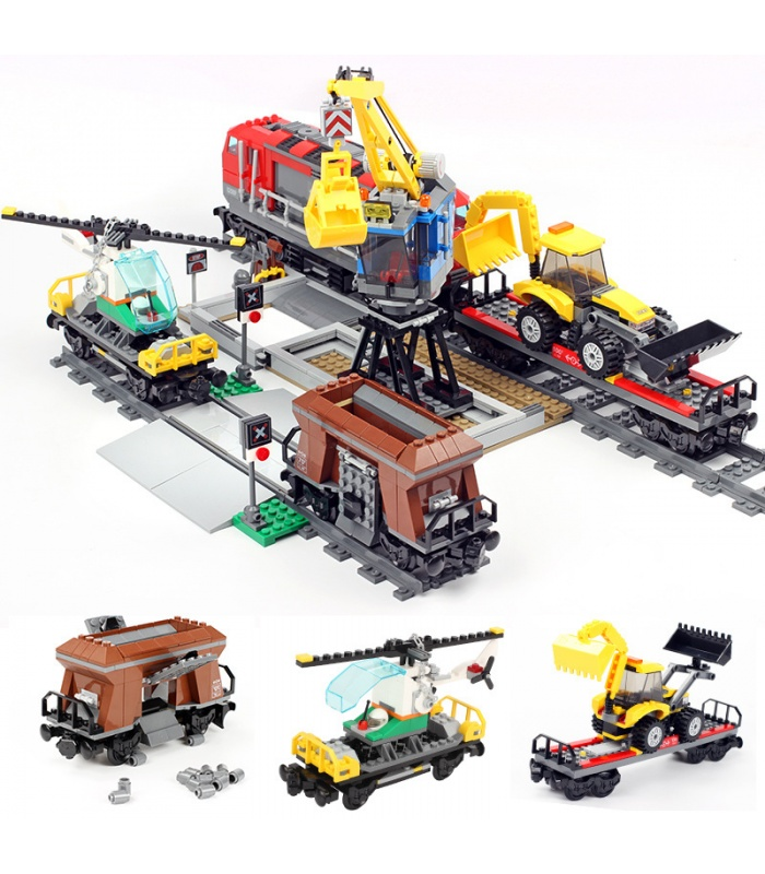 Custom Heavy-Haul Train Compatible Building Bricks Set 1033 Pieces