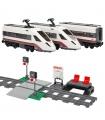 Personalizada De Alta Velocidad De Tren De Pasajeros A La Construcción De Ladrillos De Juguete Set 610 Piezas