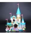 Custom Cinderella's Romantic Castle Building Bricks Toy Set 697 Pieces