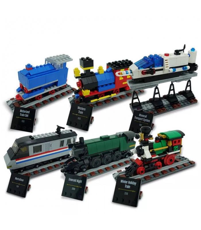 Custom 50 Years on Track Compatible Building Bricks Set 1176 Pieces