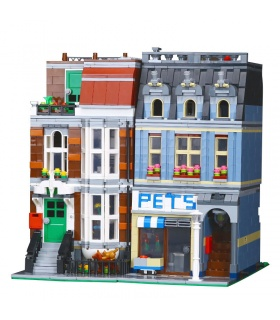 Custom Creator Expert Pet Shop Compatible Building Bricks Set 2128 Pieces