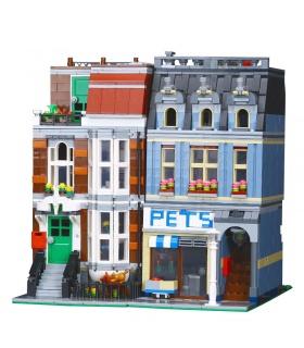Personalizado Creador De Expertos De La Tienda De Animales Compatible Con Los Ladrillos Del Edificio Conjunto 2128 Piezas