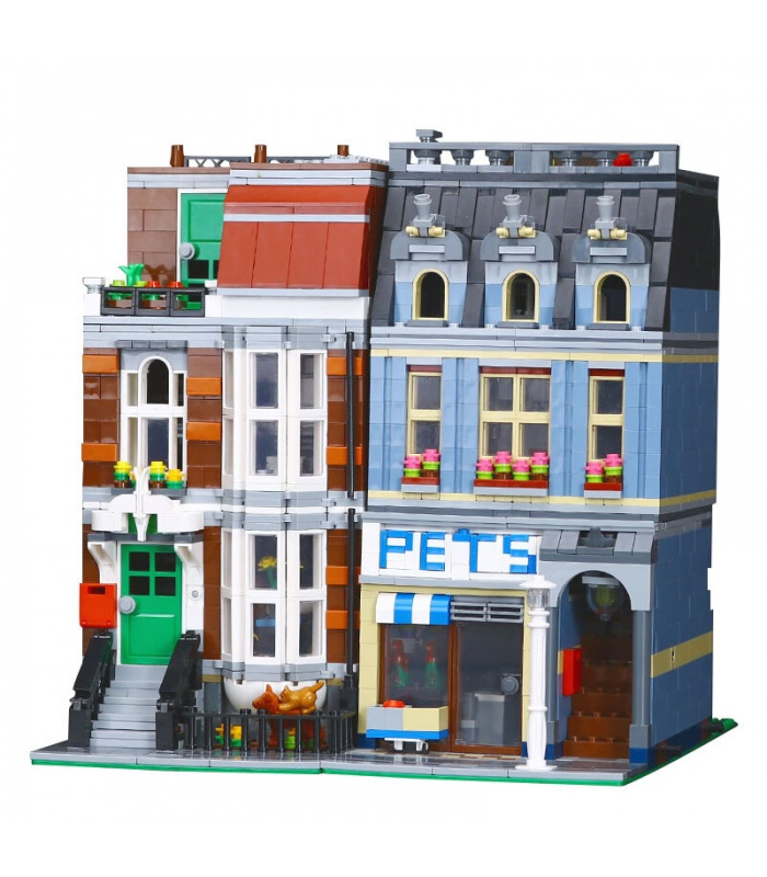 Custom Creator Expert Pet Shop Compatible Building Bricks Set 2128 Pieces