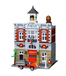 Custom Fire Brigade Creator Expert Compatible Building Bricks Set 2313 Pieces