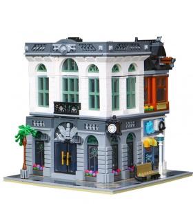 Custom-Creator Expert-Ziegel-Bank-Kompatible Bausteine Spielzeug-Set 2413 Stücke