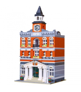 Custom Town Hall Creator Expert Compatible Building Bricks Set 2859 Pieces