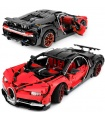 Custom Red Bugatti Chiron Compatible Building Bricks Set