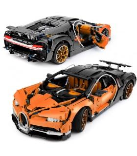 Custom Orange Bugatti Chiron Compatible Building Bricks Set