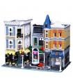 カスタム作成の専門家に組み立てスクエア建物の煉瓦玩具セット4002個