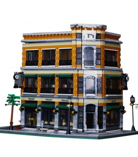 Custom MOC Street View Starbucks Bookstore Cafe Building Bricks Toy Set 4616 Pieces