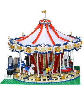 Custom Creator Expert Fairground Grand Carousel Building Bricks Toy Set 3263 Pieces