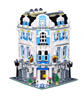 Custom MOC International Sunshine Hotel Building Bricks Toy Set