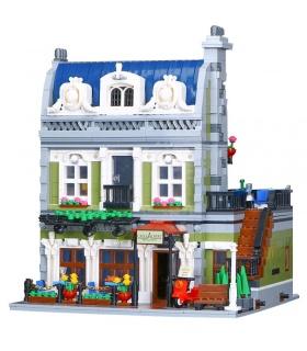 カスタム作専門家パリのレストランは建物の煉瓦玩具セット2418個
