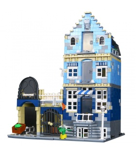 Custom Creator Expert Market Street Compatible Building Bricks Toy Set 1275 Pieces