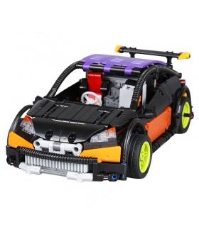 Personalizado MOC Control Remoto Hatchback Tipo R Edificio de Ladrillos de Juguete Set de 640 Piezas