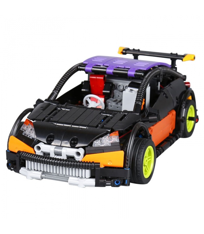 Custom MOC Remote Control Hatchback Type R Building Bricks Toy Set 640 Pieces