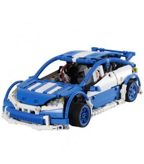Custom MOC Blau Hatchback Type R Bausteine Spielzeug-Set 640 Stück