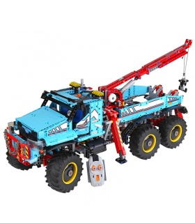 Custom Technic 6x6 All Terrain Tow Truck Building Bricks Toy Set 1912
