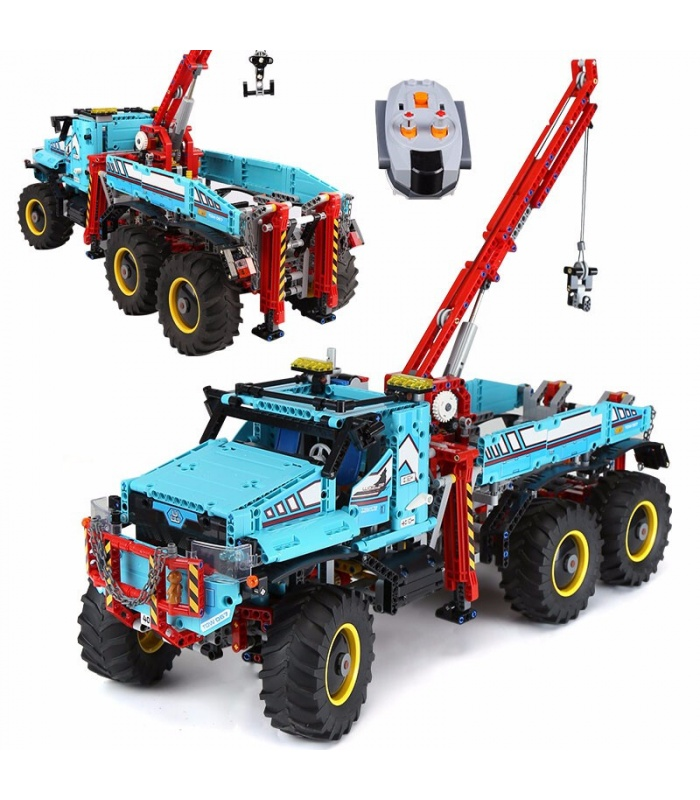 Custom Technic 6x6 All Terrain Tow Truck Building Bricks Toy Set 1912