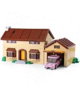 Personnalisé Les Simpsons Maison De Briques De Construction Jouet Jeu De 2575 Pièces