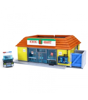 Custom The Simpsons Kwik-E-Mart Building Bricks Toy Set 2232 Pieces