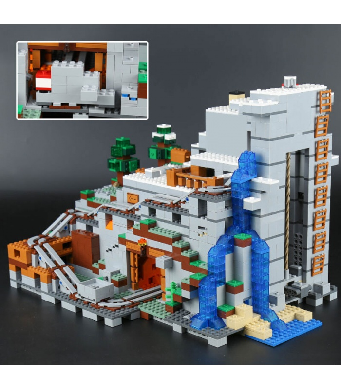 Custom Minecraft The Mountain Cave Compatible Building Bricks Toy Set 2932 Pieces