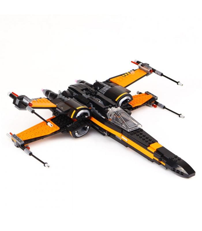Custom Star Wars Poe's X-wing Fighter Building Bricks Toy Set 784 Pieces