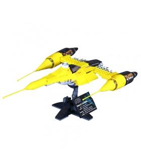 Personalizado De Star Wars Naboo Starfighter Edificio De Ladrillos Conjunto De Juguete