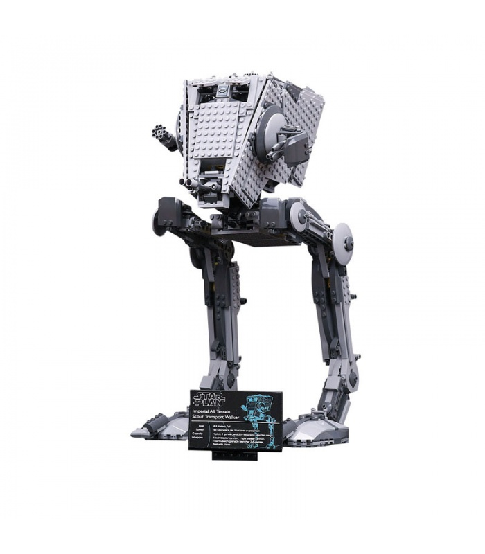 Custom Star Wars Imperial AT-ST Building Bricks Toy Set 1068 Pieces