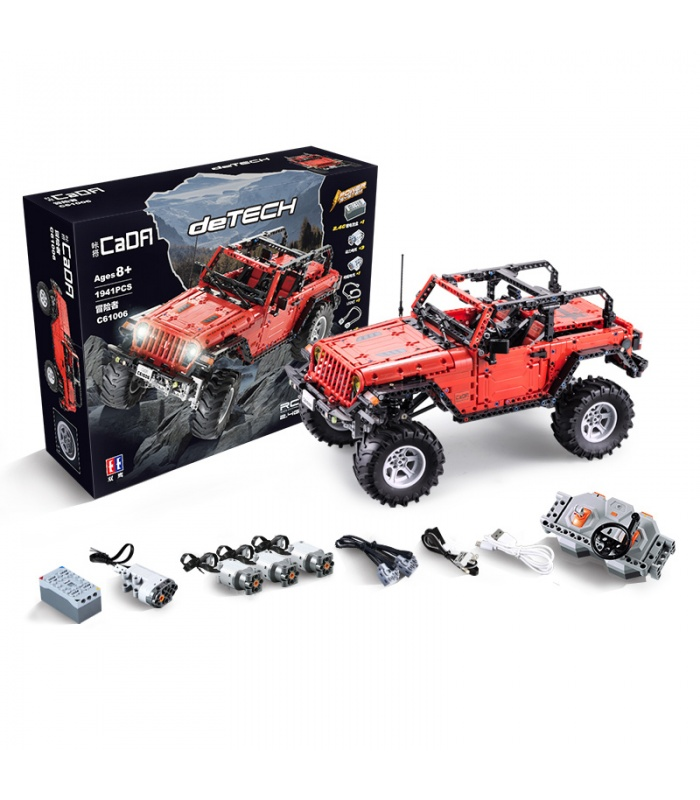 Double Eagle CaDA C61006 Wrangler Adventurer Car 2.4G Remote Control Building Blocks Toy