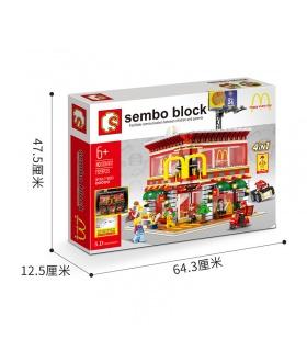 SEMBO SD6901 McDonaldes Con Luz LED Kit de Bloques de Construcción de Juguete Set