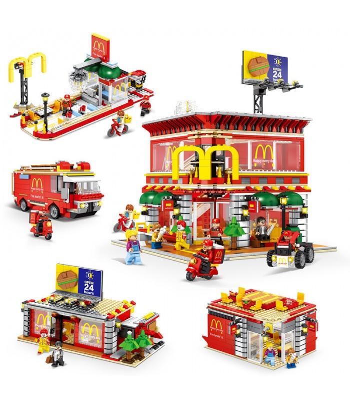SEMBO SD6901 McDonaldes Avec la Lumière de LED Kit de Blocs de Construction Jouets Jeu