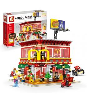 SEMBO SD6901 McDonaldes Mit LED-Licht-Kit Building Blocks Spielzeug-Set