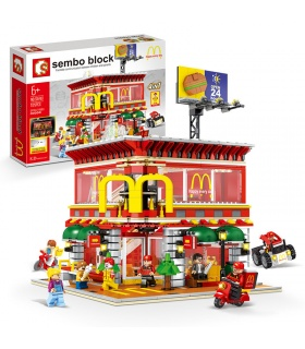SEMBO SD6901 McDonaldes Mit LED-Lichtbausatz Bausteine Spielzeugset