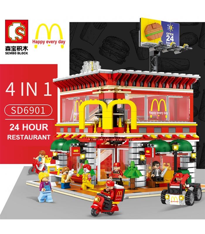 Сэмбо SD6901 McDonaldes с светлое здание комплект блоков игрушки набор