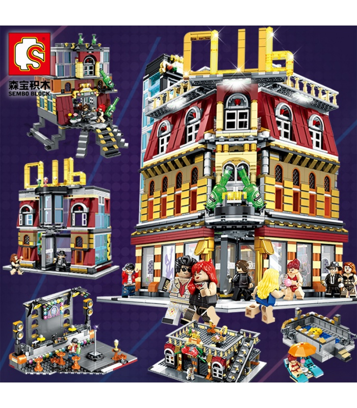 Сэмбо SD6991 ночной клуб с легких строительных блоков игрушка набор