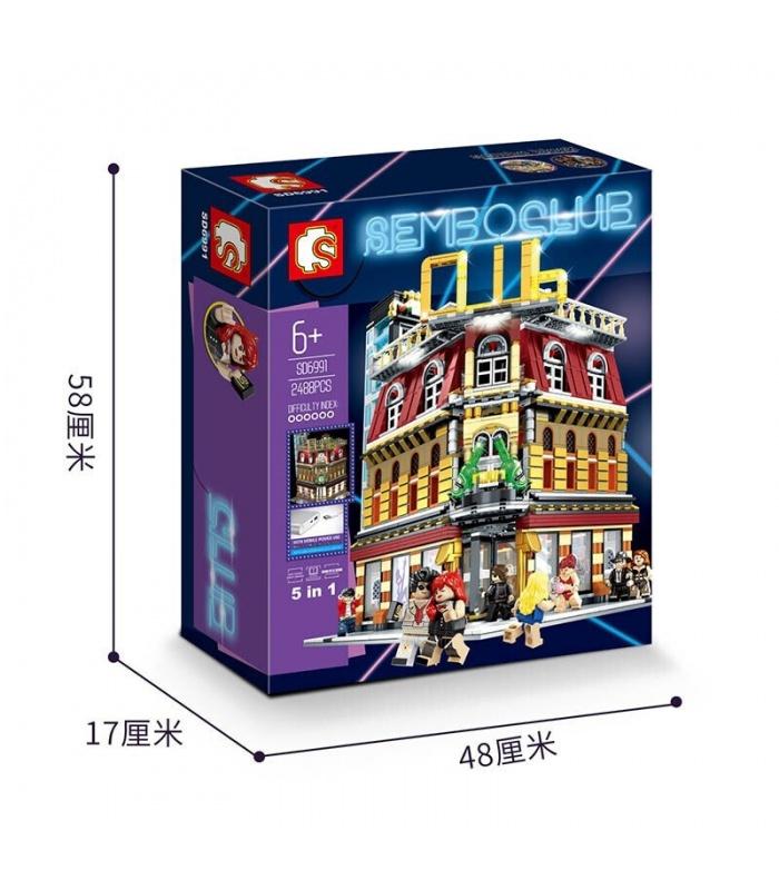 SEMBO SD6991 Diskothek Mit Licht-Building Blocks Spielzeug-Set
