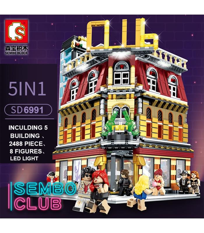 SEMBO SD6991ナイトクラブ光ビルブロック玩具セット